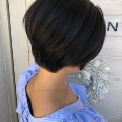 女子力 ナチュラル 似合わせ ショートボブ ヘアスタイルや髪型の写真・画像