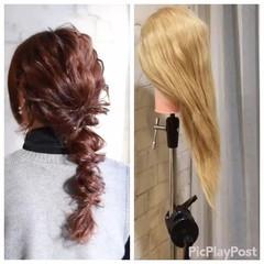 簡単ヘアアレンジ ハイライト ショート ヘアアレンジ ヘアスタイルや髪型の写真・画像