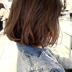 ボブ 大人女子 ニュアンス ミルクティー ヘアスタイルや髪型の写真・画像