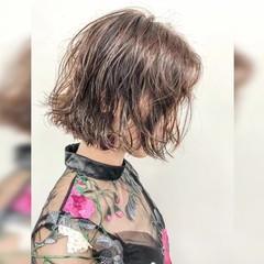 モテボブ パーマ 切りっぱなしボブ ボブ ヘアスタイルや髪型の写真・画像