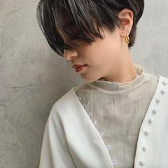 ハンサムショート ショートヘア 暗髪 ショート ヘアスタイルや髪型の写真・画像