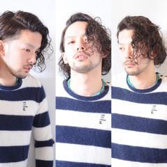 レイヤーカット パーマ 黒髪 暗髪 ヘアスタイルや髪型の写真・画像