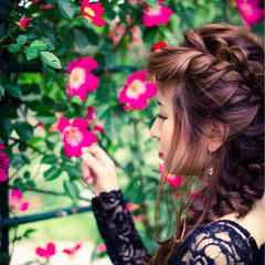 簡単ヘアアレンジ ロング 外国人風 フェミニン ヘアスタイルや髪型の写真・画像