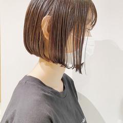 束感バング ボブ まとまるボブ ナチュラル ヘアスタイルや髪型の写真・画像