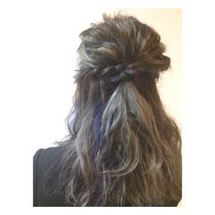 ヘアアレンジ ハーフアップ ストリート 外国人風 ヘアスタイルや髪型の写真・画像