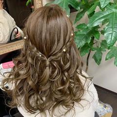 ヘアアレンジ 簡単ヘアアレンジ 編み込み ふわふわヘアアレンジ ヘアスタイルや髪型の写真・画像