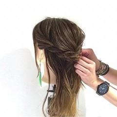 デート 結婚式 ヘアアレンジ ギブソンタック ヘアスタイルや髪型の写真・画像