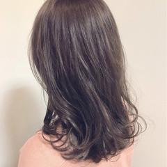 外国人風カラー セミロング 大人かわいい 冬 ヘアスタイルや髪型の写真・画像