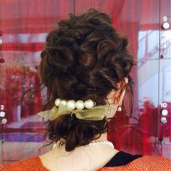 ゆるふわ パーティ 編み込み フェミニン ヘアスタイルや髪型の写真・画像