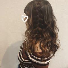 ガーリー リボンアレンジ ヘアセット りぼん ヘアスタイルや髪型の写真・画像