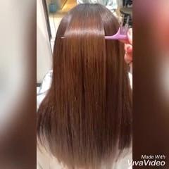 ナチュラル ロング ツヤ髪 トリートメント ヘアスタイルや髪型の写真・画像