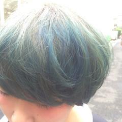 カラーバター ストリート ローライト ダブルカラー ヘアスタイルや髪型の写真・画像