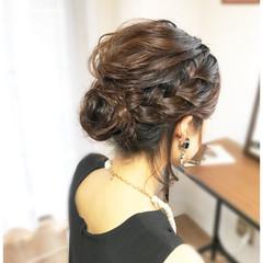 夏 フェミニン ヘアアレンジ ボブ ヘアスタイルや髪型の写真・画像