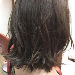 ボブ アッシュ ナチュラル パーマ ヘアスタイルや髪型の写真・画像