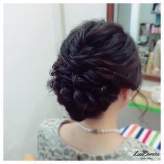 結婚式 ねじり 大人かわいい ヘアアレンジ ヘアスタイルや髪型の写真・画像