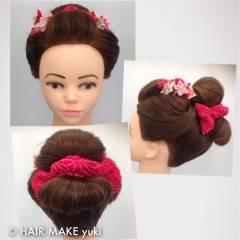 謝恩会 ヘアアレンジ 着物 和装 ヘアスタイルや髪型の写真・画像