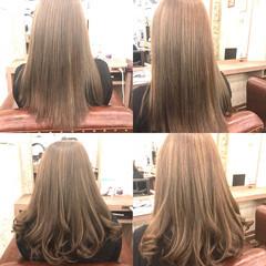 セミロング イルミナカラー ワンカール カール ヘアスタイルや髪型の写真・画像