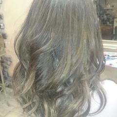 グラデーションカラー フェミニン 外国人風 アッシュ ヘアスタイルや髪型の写真・画像