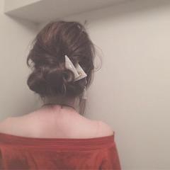 ロング ゆるふわ セルフヘアアレンジ くるりんぱ ヘアスタイルや髪型の写真・画像