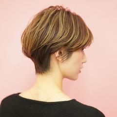 ショート 40代 ショートボブ エレガント ヘアスタイルや髪型の写真・画像