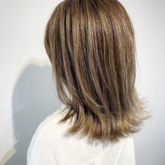 コントラストハイライト エレガント 3Dハイライト ハイライト ヘアスタイルや髪型の写真・画像