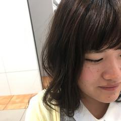 ミディアム 透明感 アッシュ セミロング ヘアスタイルや髪型の写真・画像