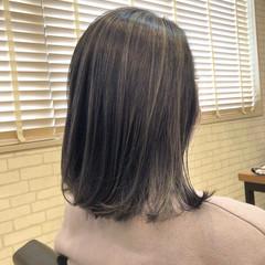 セミロング ブルーバイオレット 外国人風カラー ガーリー ヘアスタイルや髪型の写真・画像