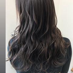 ミルクティー アッシュブラウン ミルクティーグレージュ ハイライト ヘアスタイルや髪型の写真・画像