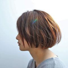 パーマ ボブ 黒髪 ストリート ヘアスタイルや髪型の写真・画像