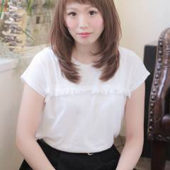 フェミニン ナチュラル 大人かわいい 卵型 ヘアスタイルや髪型の写真・画像