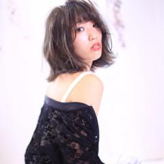 透明感 秋 フェミニン ボブ ヘアスタイルや髪型の写真・画像