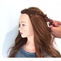 夏 ロング ヘアアレンジ フェミニン ヘアスタイルや髪型の写真・画像