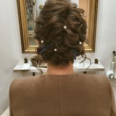 ボブ パーティ ゆるふわ 結婚式 ヘアスタイルや髪型の写真・画像