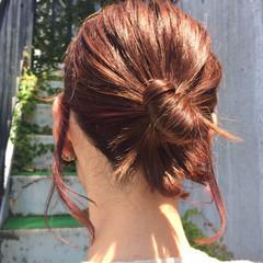 簡単ヘアアレンジ ヘアアレンジ ミルクティー ショート ヘアスタイルや髪型の写真・画像