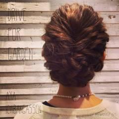 結婚式 三つ編み 大人かわいい ナチュラル ヘアスタイルや髪型の写真・画像