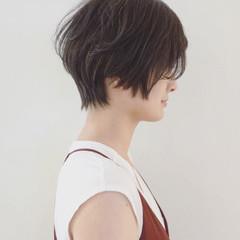 抜け感 大人かわいい ショート 黒髪 ヘアスタイルや髪型の写真・画像