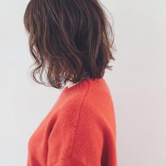 切りっぱなし フェミニン ボブ バレンタイン ヘアスタイルや髪型の写真・画像
