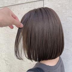 切りっぱなしボブ ナチュラル ミニボブ ショートボブ ヘアスタイルや髪型の写真・画像