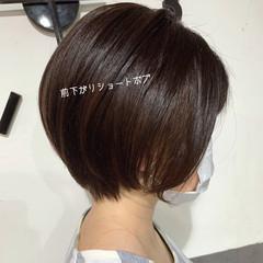 黒髪ショート ハンサムショート ショートヘア ショート ヘアスタイルや髪型の写真・画像