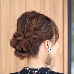 簡単ヘアアレンジ リラックス ショート 結婚式 ヘアスタイルや髪型の写真・画像