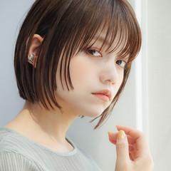 前髪あり ミニボブ モード 大人女子 ヘアスタイルや髪型の写真・画像