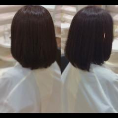 艶髪 髪質改善トリートメント ナチュラル ミディアム ヘアスタイルや髪型の写真・画像