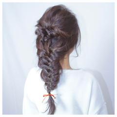 ゆるふわ フェミニン 簡単ヘアアレンジ 夏 ヘアスタイルや髪型の写真・画像