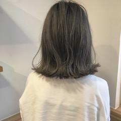 ハイライト ナチュラル ボブ ロブ ヘアスタイルや髪型の写真・画像