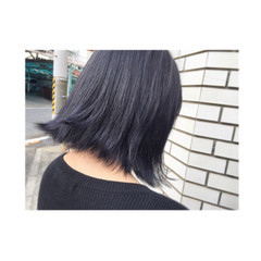 ウェットヘア 大人かわいい 暗髪 ボブ ヘアスタイルや髪型の写真・画像