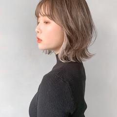 ひし形シルエット 大人かわいい デジタルパーマ ミディアム ヘアスタイルや髪型の写真・画像