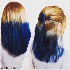 ストリート 外国人風 ブリーチ ブルーアッシュ ヘアスタイルや髪型の写真・画像