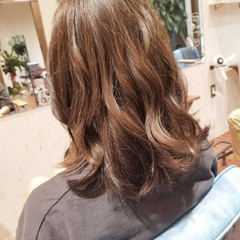 大人かわいい グレージュ フェミニン ミディアム ヘアスタイルや髪型の写真・画像