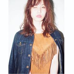 外国人風 ミディアム ストリート 前髪あり ヘアスタイルや髪型の写真・画像
