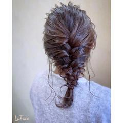 結婚式 ヘアアレンジ 編みおろし パーティ ヘアスタイルや髪型の写真・画像